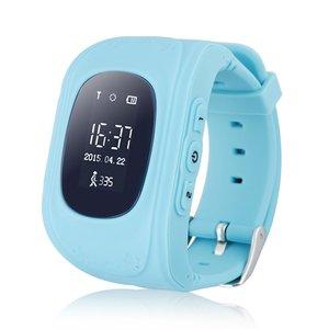 GPS Tracker Παιδικό ρολόι χειρός Q50, SOS-Βηματομετρητής, Blue