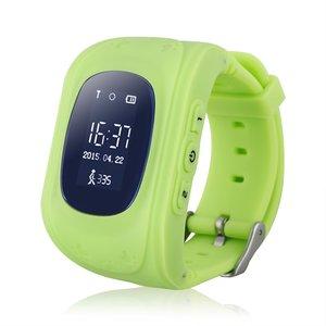 GPS Tracker Παιδικό ρολόι χειρός Q50, SOS-Βηματομετρητής, Green