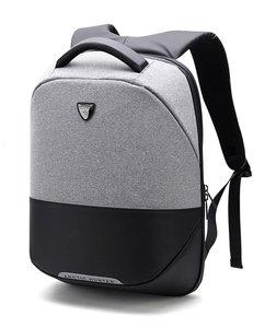e316982f21d ARCTIC HUNTER τσάντα πλάτης B00216-LG, laptop, USB, αδιάβροχη, ανοιχτό γ .