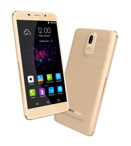 LEAGOO Smartphone M8 Pro, 5.7in IPS, Quad Core, 4G, Dual Camera, Gold